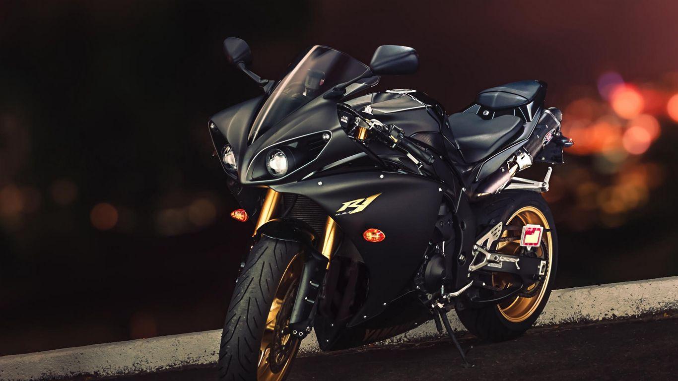 1366x768 Wallpaper yamaha, yzf-r1, sport bike