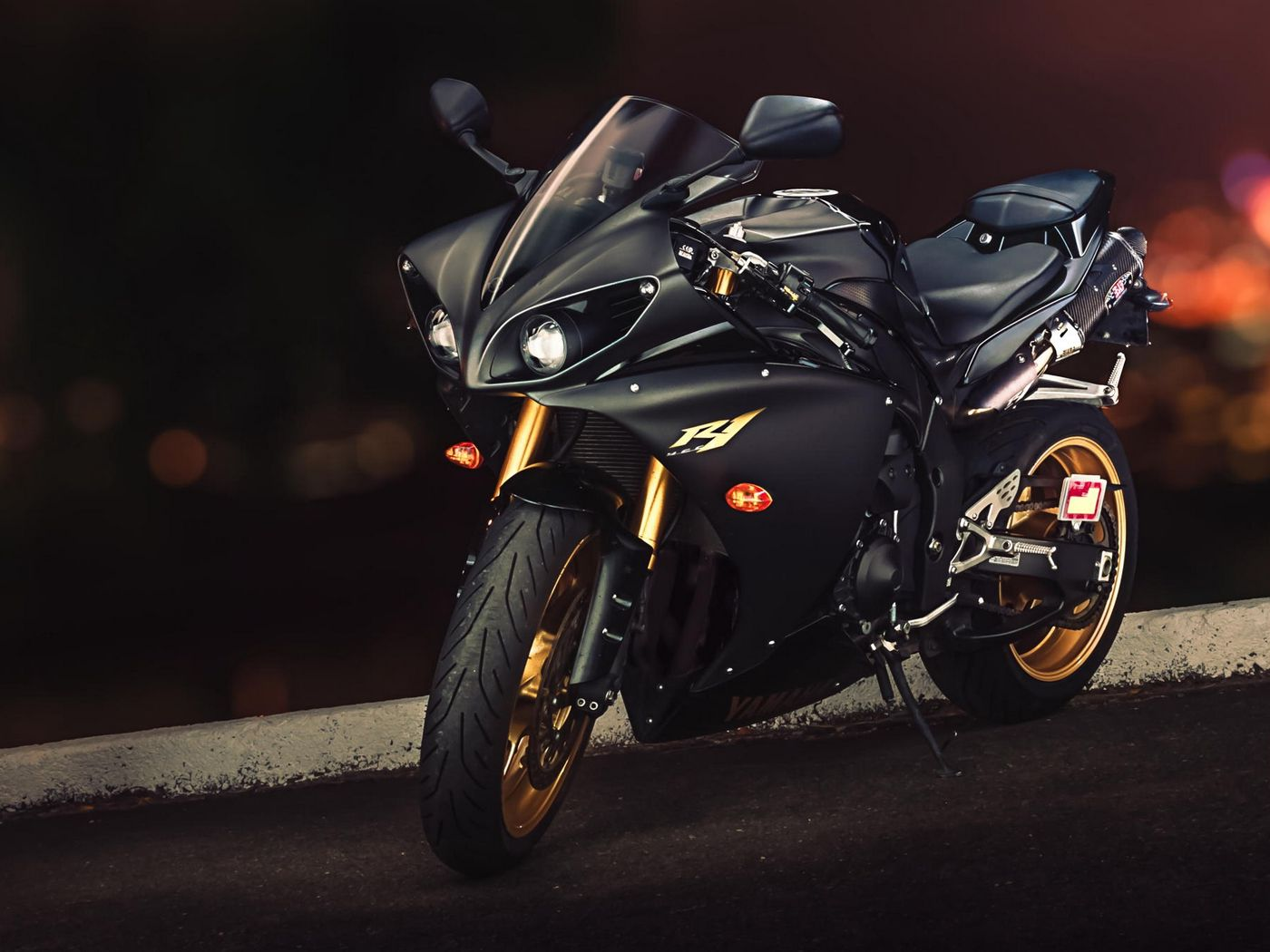 1400x1050 Wallpaper yamaha, yzf-r1, sport bike