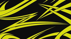 Preview wallpaper yellow, black, lines, sharp
