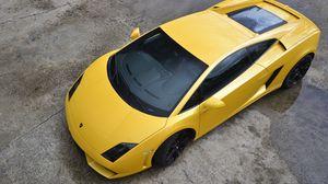 Preview wallpaper yellow, lamborghini, cars