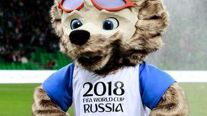 Preview wallpaper zabivaka, mascot, world cup 2018, fifa, football