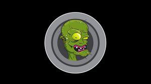 Preview wallpaper zombie, art, vector