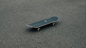 Preview wallpaper skateboard, skate, asphalt, coating, minimalism