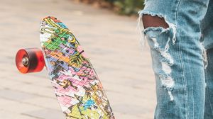 Preview wallpaper skateboard, skate, legs, style