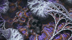 Preview wallpaper skull, 3d, abstraction, relief, surface, structure