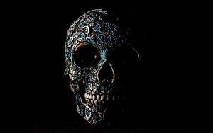 Preview wallpaper skull, dark, patterns, bones