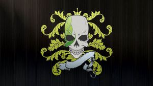 Preview wallpaper skull, symbols, graphics