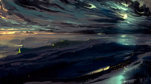 Preview wallpaper sky, art, dark, night