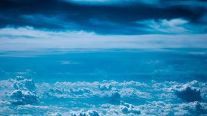 Preview wallpaper sky, clouds, blue