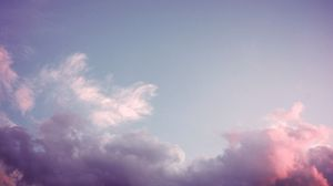 Preview wallpaper sky, clouds, pink