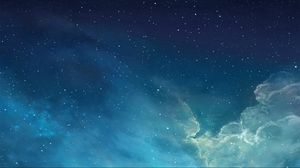 Preview wallpaper sky, stars, clouds, abstract