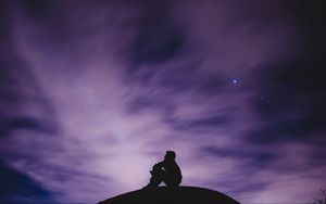 Preview wallpaper sky, stars, loneliness, freedom