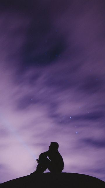 360x640 Wallpaper sky, stars, loneliness, freedom