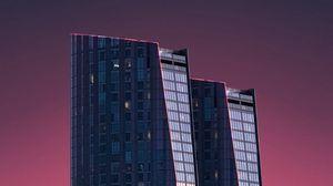 Preview wallpaper skyscraper, building, architecture, minimalism