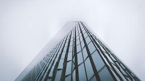 Preview wallpaper skyscraper, building, fog