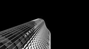 Preview wallpaper skyscraper, facade, bw, building, architecture, minimalism