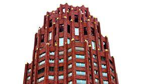 Preview wallpaper skyscraper, frankfurt, building, sky