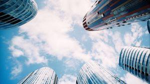 Preview wallpaper skyscrapers, city, sky