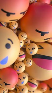 Preview wallpaper smiles, emoticons, balls, 3d, emotions
