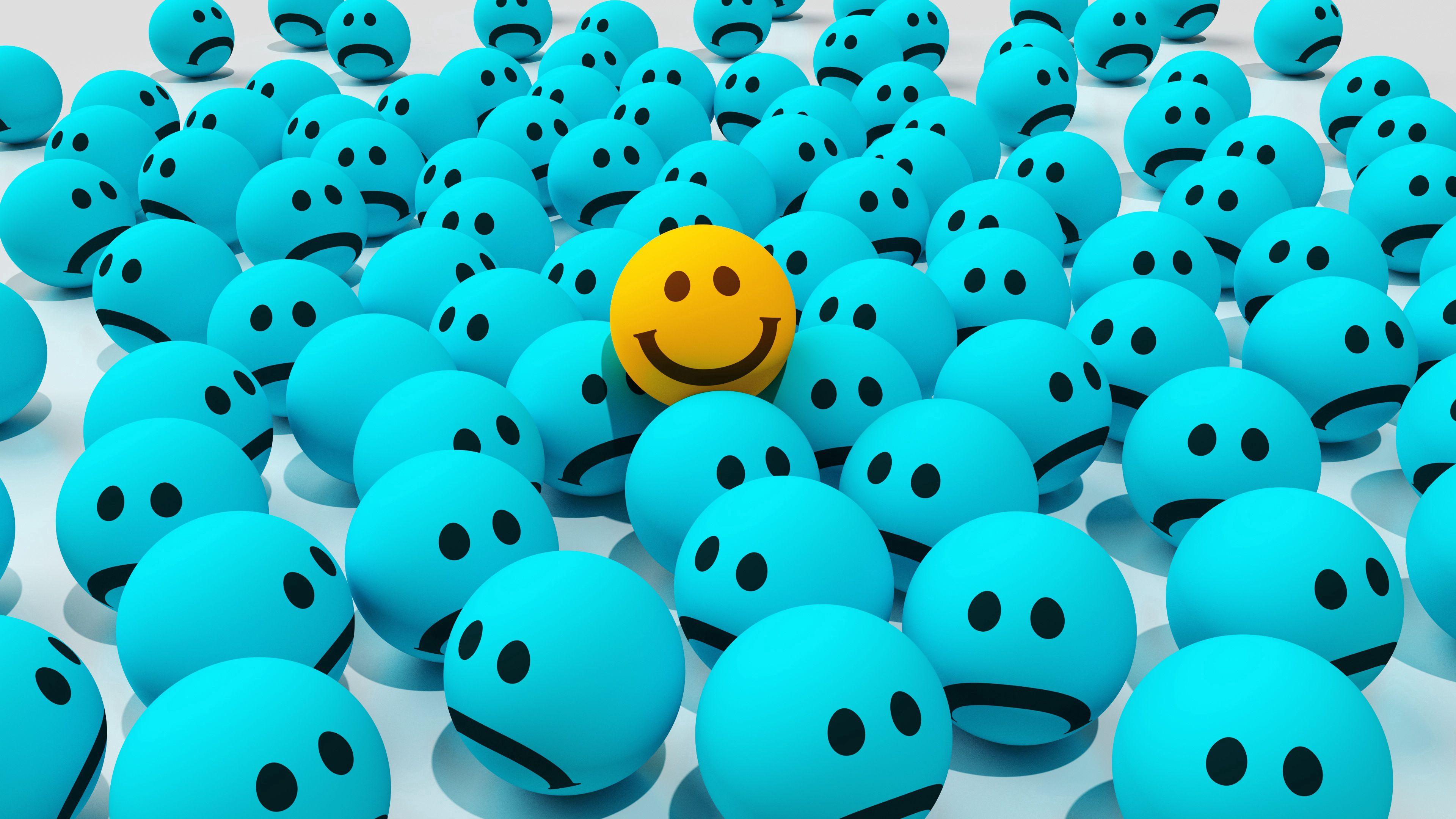 3840x2160 Wallpaper smiles, joy, sadness