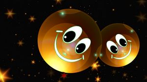 Preview wallpaper smileys, stars, happy, smile