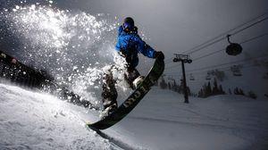 Snowboard full hd hdtv fhd 1080p wallpapers hd desktop preview wallpaper snowboard evening snow light trick voltagebd Image collections