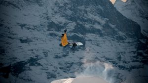 Preview wallpaper snowboarder, snowboard, jump, trick, extreme, sport
