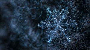 Preview wallpaper snowflake, pattern, structure, ice