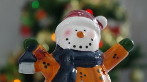 Preview wallpaper snowman, figurine, christmas, new year