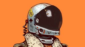 Preview wallpaper soldier, helmet, art, digital art, sci-fi