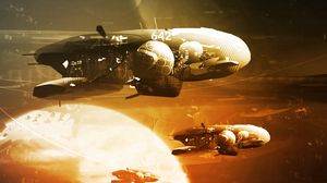Preview wallpaper spaceships, space, planets, art