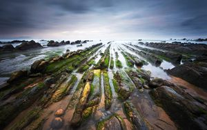 Preview wallpaper spain, barrika, bay of biscay, coast