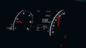 Preview wallpaper speedometer, speed, movement, arrow