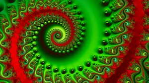 Preview wallpaper spiral, swirling, colorful, bright, fractal, 3d