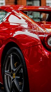 Preview wallpaper sports car, red, rear view