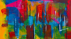 Preview wallpaper spots, paint, colorful, abstract, chaotic