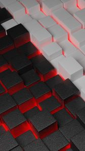 Preview wallpaper cubes, form, shapes, volume, 3d, glow