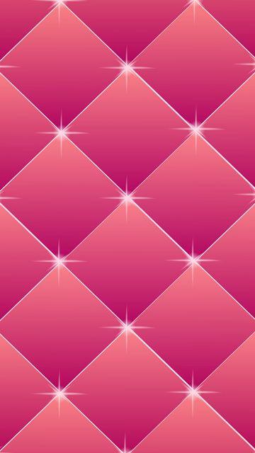 360x640 Wallpaper squares, rhombuses, pink, glitter