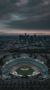 Preview wallpaper stadium, arena, aerial view, architecture, city