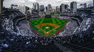 Preview wallpaper stadium, stands, baseball, match, field, arena