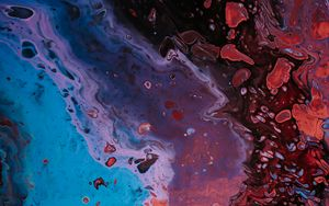 Preview wallpaper stains, paint, liquid, colorful, abstraction