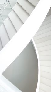 Preview wallpaper staircase, white, architecture, minimalism