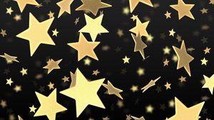 Preview wallpaper star, flying, gold