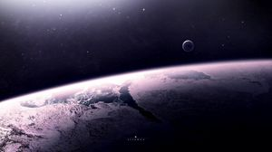 Preview wallpaper star, relief, planet, space