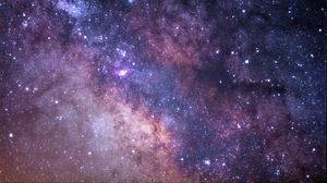 Preview wallpaper starry sky, milky way, stars, glitter, space
