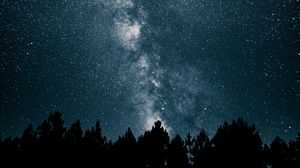 Preview wallpaper starry sky, milky way, stars, night