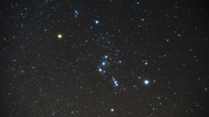 Preview wallpaper starry sky, orion, constellation, stars, galaxy