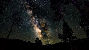 Preview wallpaper starry sky, stars, night