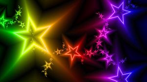 Preview wallpaper stars, light, colorful, abstract