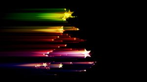 Preview wallpaper stars, shine, rays, colorful
